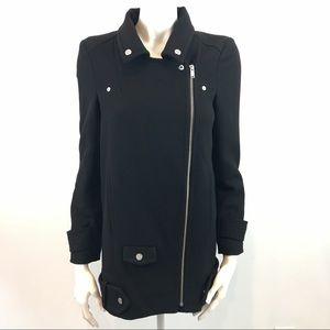 ZARA Black Double Breast Pea Coat